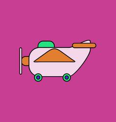 Flat icon design collection retro plane toy vector