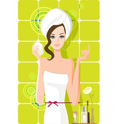 flow girl vector image