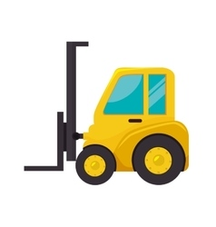 Fork truck lift machine icon vector