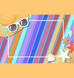 frame postcard design with summer attribute vector image
