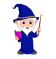 Funny witch cartoon vector