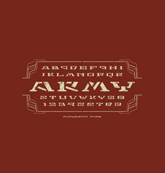 Geometric stencil-plate serif font vector