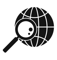 Global exploration icon simple style vector