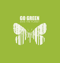 go green eco poster concept save planet vector image