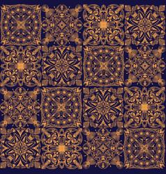 golden tribal symmetric tiled seamless vector image