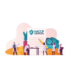 Haccp hazard analysis and critical control point vector