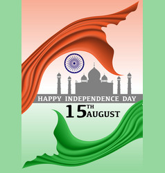 Happy independence day india 15 august vector