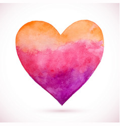 heart pink natural watercolor vector image