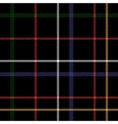 Heckered black plaid seamless pattern vector