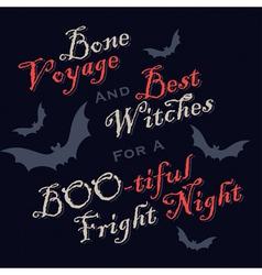 humorous Halloween greetings vector image