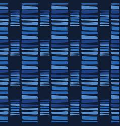 Indigo blue graphic abstract lines seamless vector