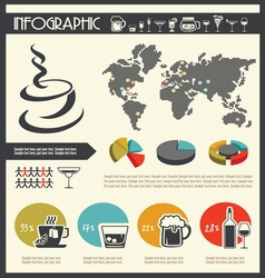 infographic drinks resize vector image