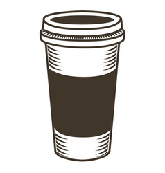 Isolated coffee sketch vector