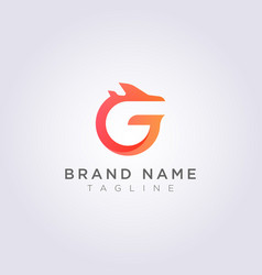 Logo design combination letters g and vector