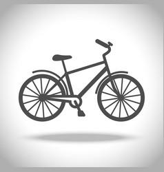 Man bike icon vector