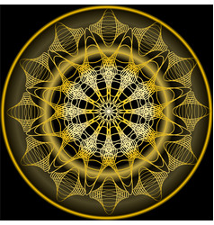 mandala in gold for zen obtaining luxurious vector image