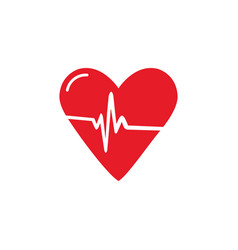 Medical hearth icon hospital sign vector