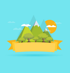 Mountain flat design concept vector