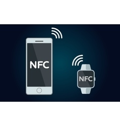 NFC concept flat icon vector
