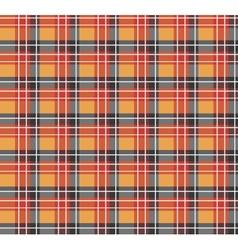 Orange plaid fabric vector