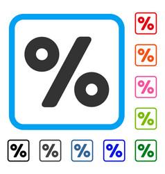 Percent framed icon vector