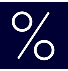 Percent or interest icon set white outlines vector