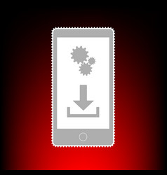 phone settings download and install apps postage vector image
