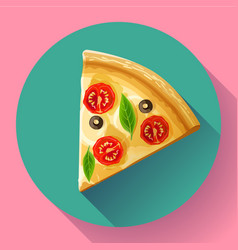 pizza slice icon vector image