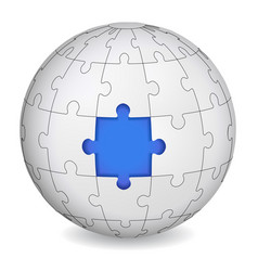 puzzle land with blue the middle vector image