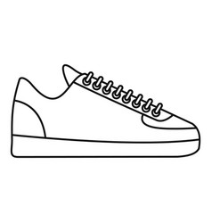 Rap sneakers icon outline style vector