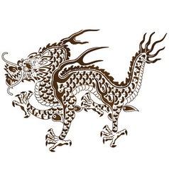 Responsive dragon chinese myth vector