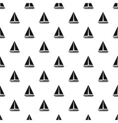 Sea yacht pattern simple style vector
