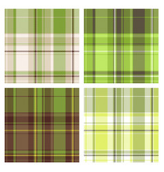 seamless green checked patterns vector image