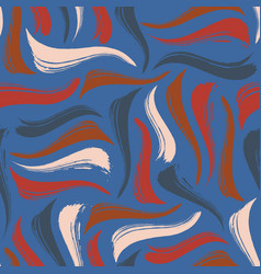 Seamless pattern with hand drawn brushstrokes in vector