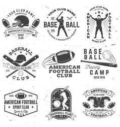 set american football and baseball club badge vector image