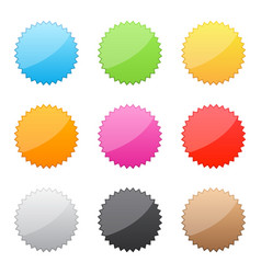 set of colored labels vector image