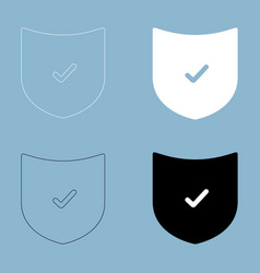 Shield the black and white color icon vector