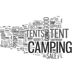 Tents for sale text background word cloud concept vector