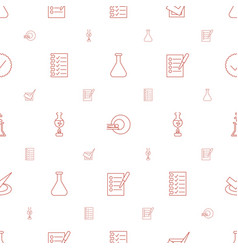 Test icons pattern seamless white background vector