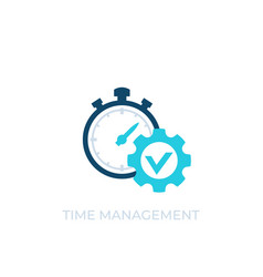 Time management icon on white vector