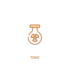 Toxic concept 2 colored icon simple line element vector