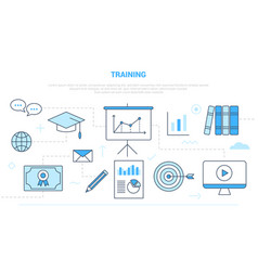 Training concept education campaign for website vector