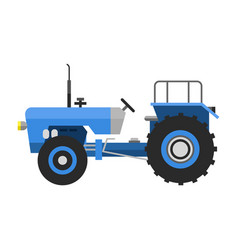 Type of agricultural vehicle blue tractor vector