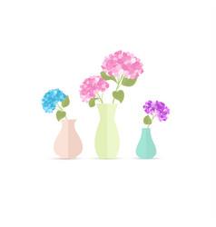 vase flowers vector image