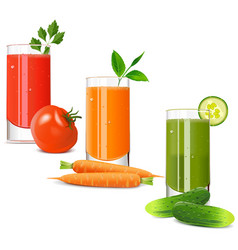 Vegetable juice icons vector