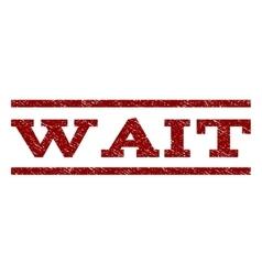 Wait Watermark Stamp vector