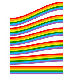 with rainbow shapes isolated on white vector image