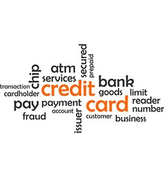 word cloud credit card vector image