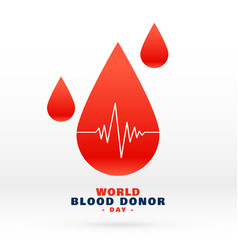 World blood donor day blood drop background vector