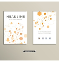 Book cover with abstract figures connected lines vector image